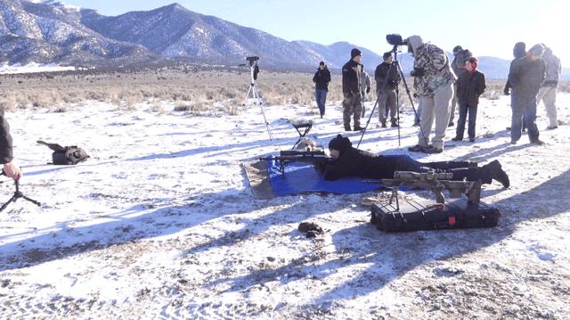 Desert Tech HTI Precison Rifle Shooting at 3080 yards.