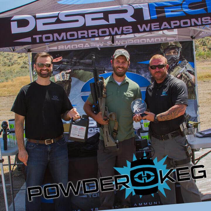 Desert Tech Winner of Powder Keg Rob Wilkinson.