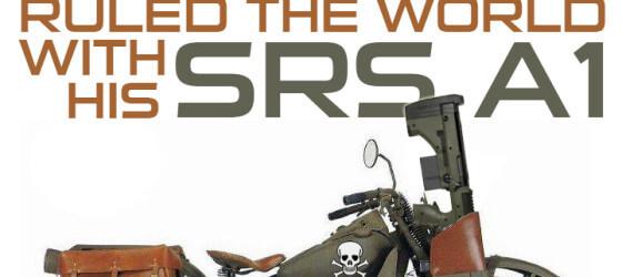 Scott Maeyaert Motorcycle With Desert Tech SRS-A1
