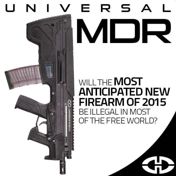 Desert Tech Universal MDR with 19 inches.