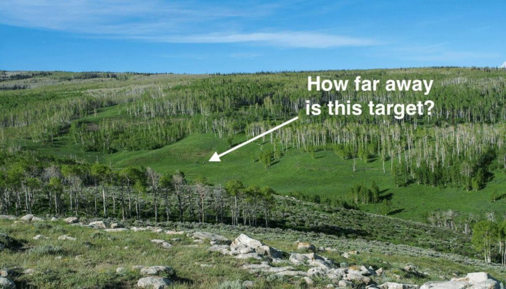 estimate the distance of a target