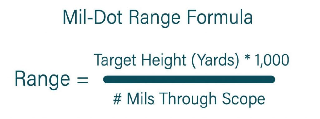 mil-dot range formula to calculate distance
