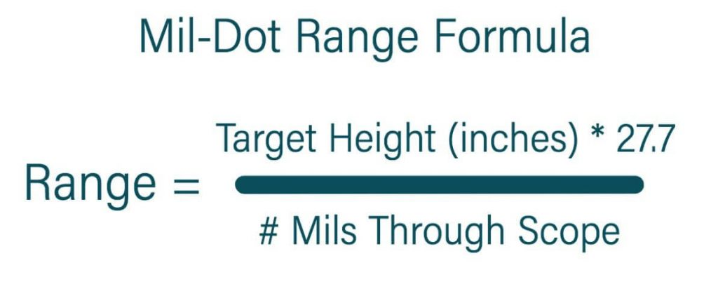 using the mil-dot range formula values
