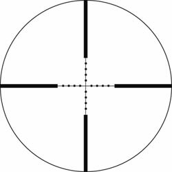 example of traditional mil-dot reticle