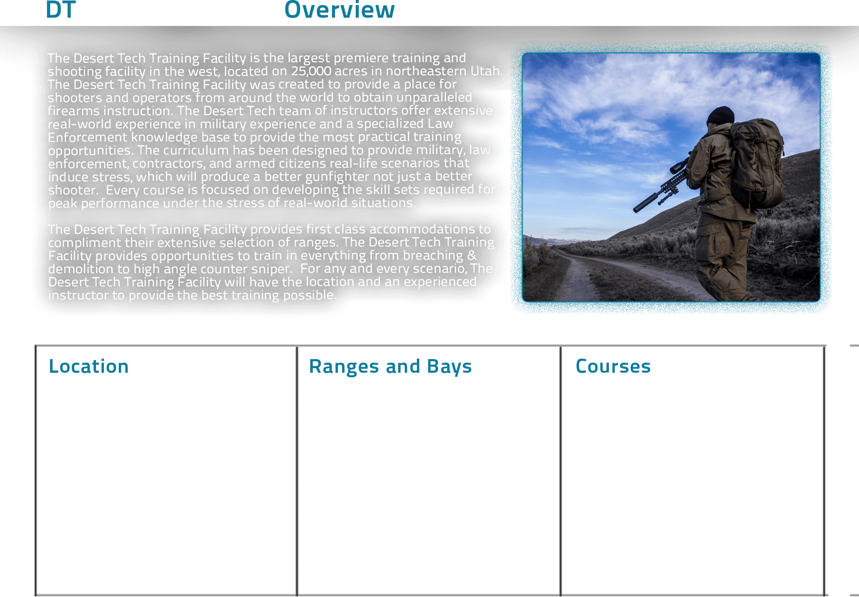 Desert Tech Training Overview Graphic